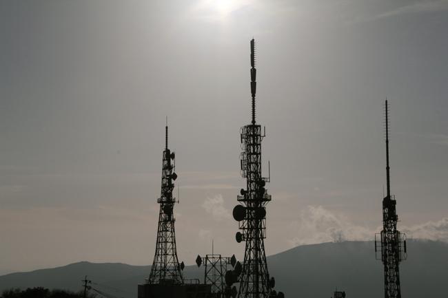 夕焼け 鉄塔