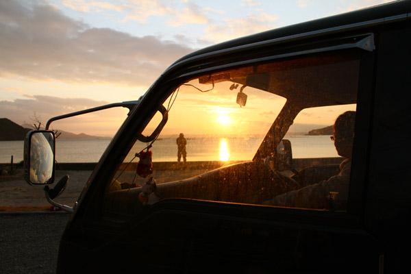 糸島 ドライブ 夕焼け