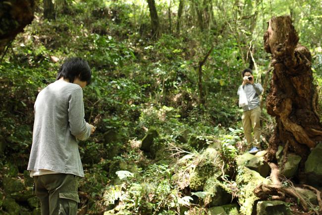明神池 風穴 自然のクーラー
