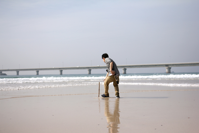 角島の砂浜