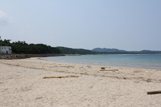 鐘崎漁港 砂浜