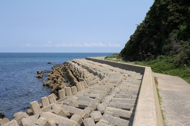 鐘崎漁港 堤防