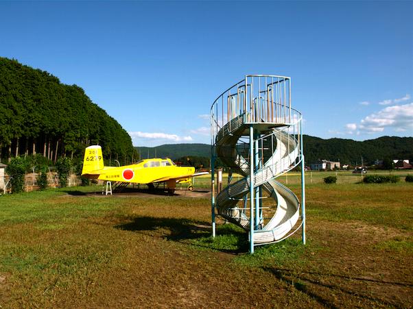 弁天池 飛行機