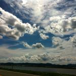 遠賀川の空。