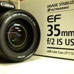 CANON EF35mm F2 IS USMを買いました。