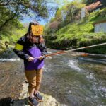 熊本の渓流釣り堀で魚を釣って食べる